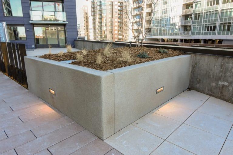 Condo courtyard Microtop - ST Concrete Overlay - Colorado Hardscapes