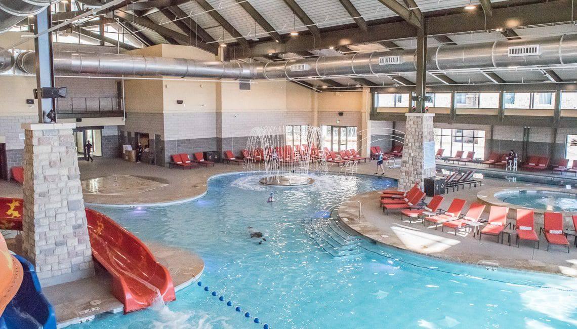 Interior pool decks