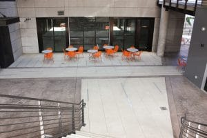 Wencel courtyard Microtop - ST Concrete Overlay - Colorado Hardscapes
