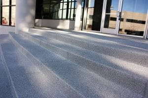 Stairs Microtop - ST Concrete Overlay - Colorado Hardscapes