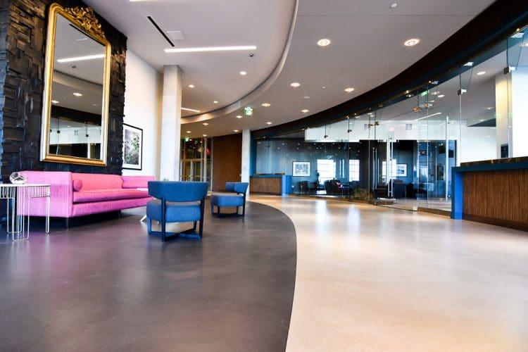 Bi-colored, smooth Troweled MicroTop floors.