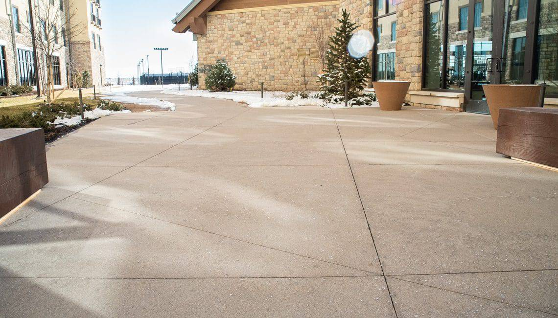 Sandscape flatwork at the Gaylord hotel Decorative Sawcuts on Flatwork - Colorado Hardscapes