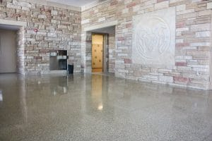 Salt & Pepper polished interior floors
