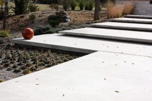 Modern steps made of sandscape® refined concrete