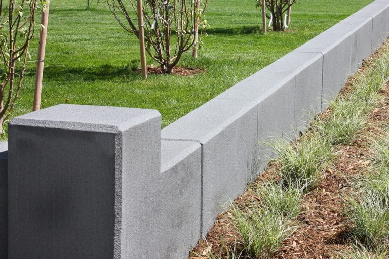 MicroTop walls along planter beds of Firefighter Memorial