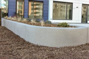 Planter wall Microtop - ST Concrete Overlay - Colorado Hardscapes