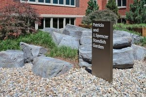 GFRC Rockwork next to monument sign