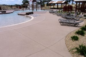 Sandscape® pool deck with integral color