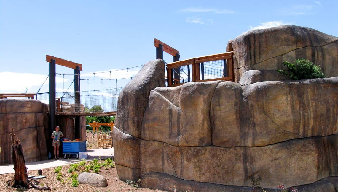 Photo of artisan rockwork at the Denver Botanic Gardens