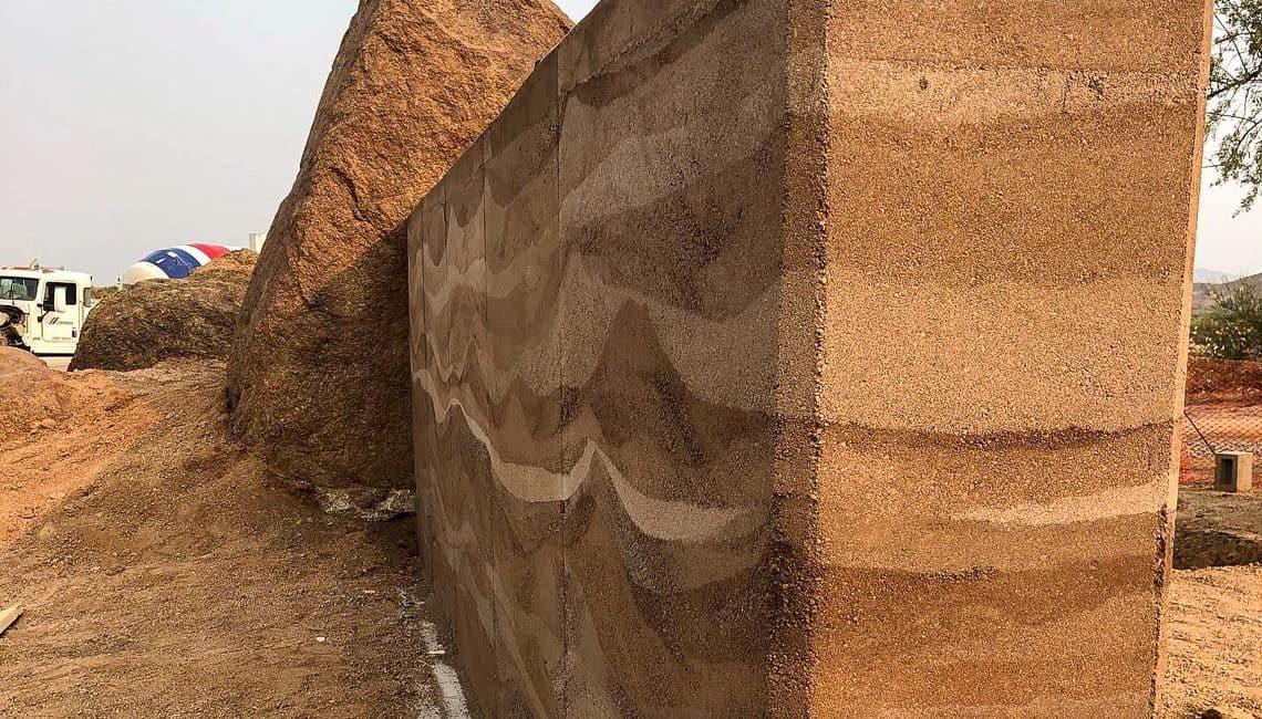 Storyrock Rammed Earth wall in Arizona