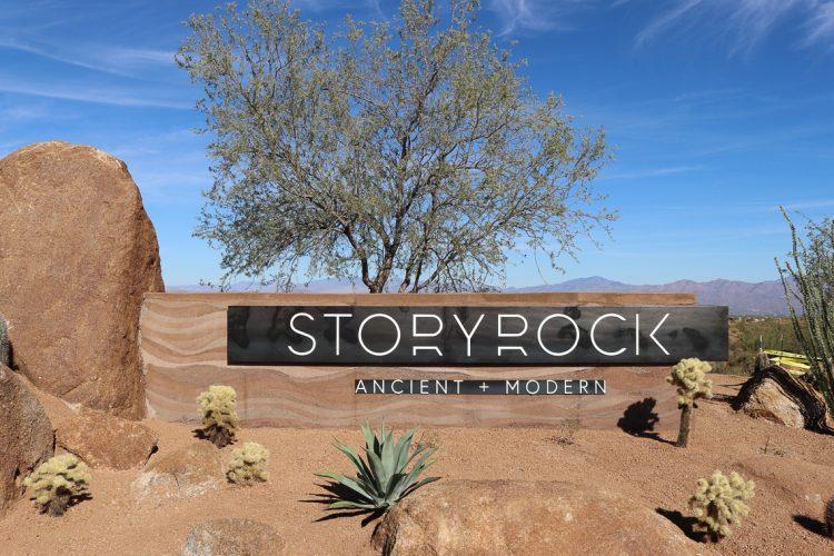 Storyrock Rammed Earth neighborhood sign walls in Arizona