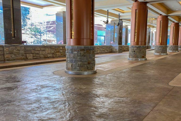 The Porte-Cochere at Monarch Casino incorporates stamped texture.